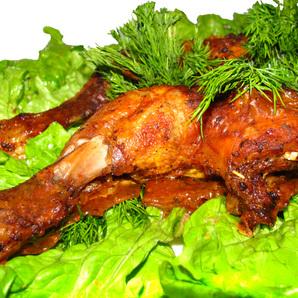 Окорок куриный жареный